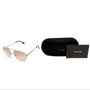TOM FORD Rose Gold Aviators Dashel 128F Unisex